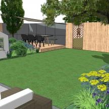 Moderne nieuwbouw tuin