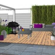 moderne stadstuin tuin