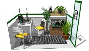 Simpel Balkon Ontwerp : Restyle je tuin balkon of dakterras voor een klein budget.
