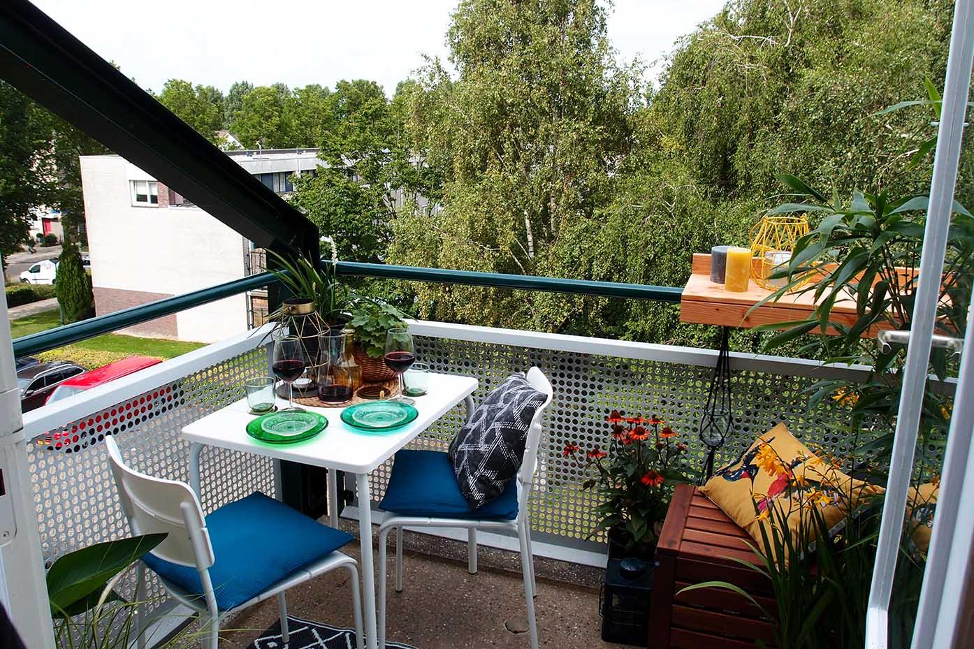 Balkon hangtafel blokker amazing le sud stapelstoel valencia