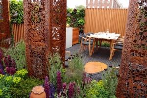 Chelsea flower show cortenstaal eetbare muur